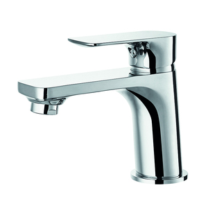 Deck mounted single handle brass faucet wash basin mixer