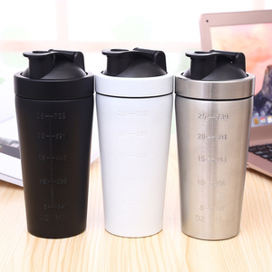 Custom Laser Engraved Logo Stainless steel Protein Shaker Sports Gym Tumbler cups