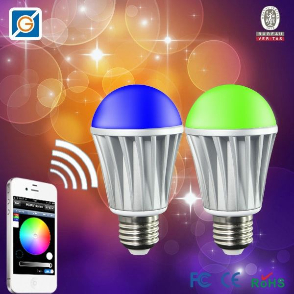 hot products 2015 new WiFi remote control rechargeable led bulb light 7.5w universal led tv remote control
