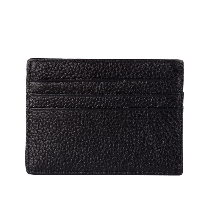 Factory outlet genuine leather credit card holder for gift