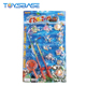 Children Interesting Plastic Wind Up Game Fishing Toys Set