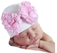 Factory Directly Sale 2018 Newest Big Bow Cotton Knitted Hat for Baby