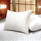 polyester pillow with white steam filature yarns