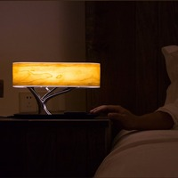 High quality LED bedside table lamps with wireless charging and bluetooth speaker