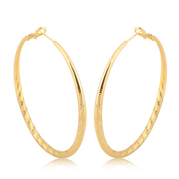 Fashion 2018 South Africa Style Thin Large Gold Hoop Earrings For Women