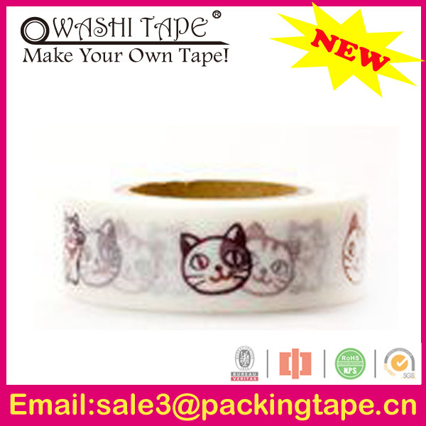 acrylic masking tape flower vase,assorted japanese paper tape made in China SGS