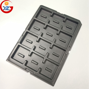 PCB Blister Packaging ESD Antistatic Disposable Plastic Black PS Tray for Electronics Products