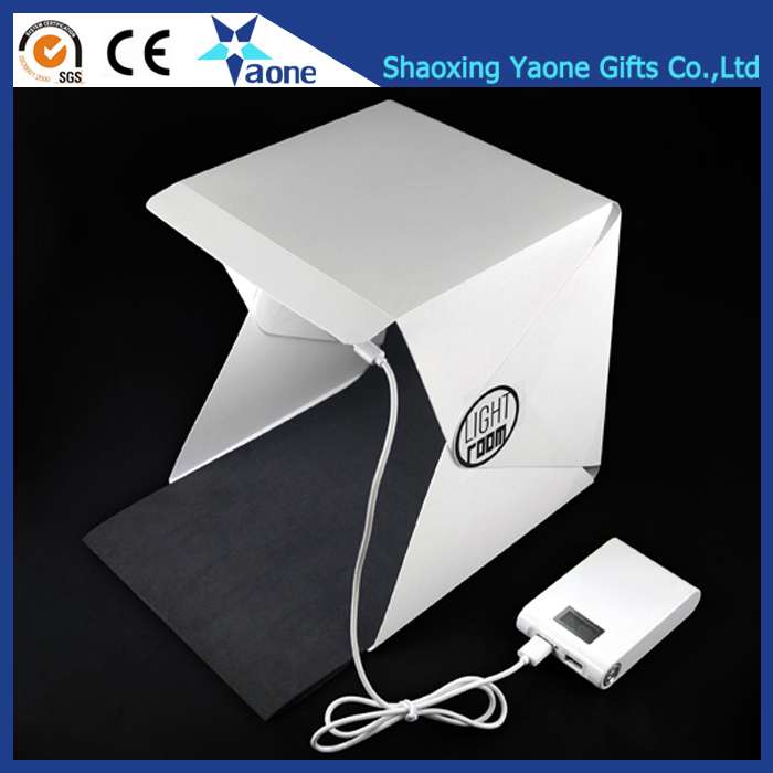 Special Gifts White Portable Plastic Waterproof Led Light Room Mini Backdrop Photo Studio Box