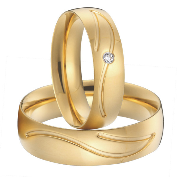 Get Quotations Anniversary Alliances Anel Silver 18k Gold Plated Health Titanium Wedding Bands Couples Promise Rings Sets
