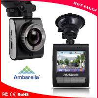 2016 ambarella A7 car dash camera HDR night version function and remote control car with camera for dash cam