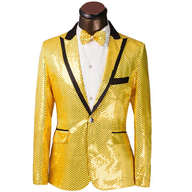 2015 New Arrival Men Suit Fashion Design Slim Golden Sliver Sequin Tuxedo Groom Wedding Suits For Men Prom Mens Suits With Pants