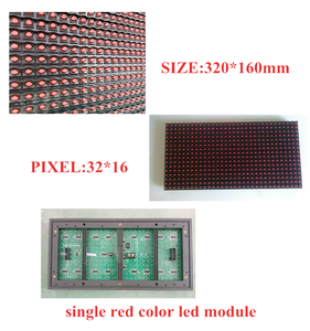 Wholesale P10 Outdoor Single Red Color Led Display Module 320x160