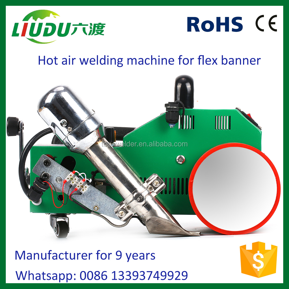 Automatic hot air plastic sheet welding machine