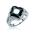 Black zirconium stone pave artificial diamond ring for men