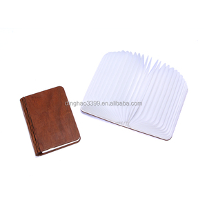 New arrival tyvek book light,custom made folding tyvek LED lamp with wood cover,promotional rechargeable USB book lamp