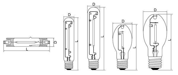 100w high pressure sodium lamp sodium 250 watt hps lamp