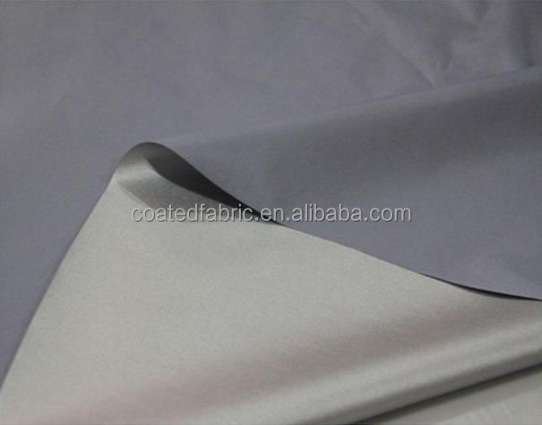 100% polyester taffeta 210T silver coated fabric for curtain