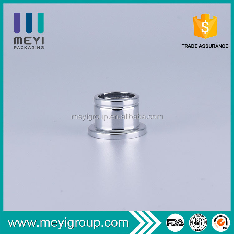 Shiny silver FEA 15mm stepped aluminum perfume bottle collar