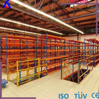 Medium Duty Carton Storage Mezzanine Rack Floor System with Office Area Warehouse Racking 2-tier Steel Platform CE