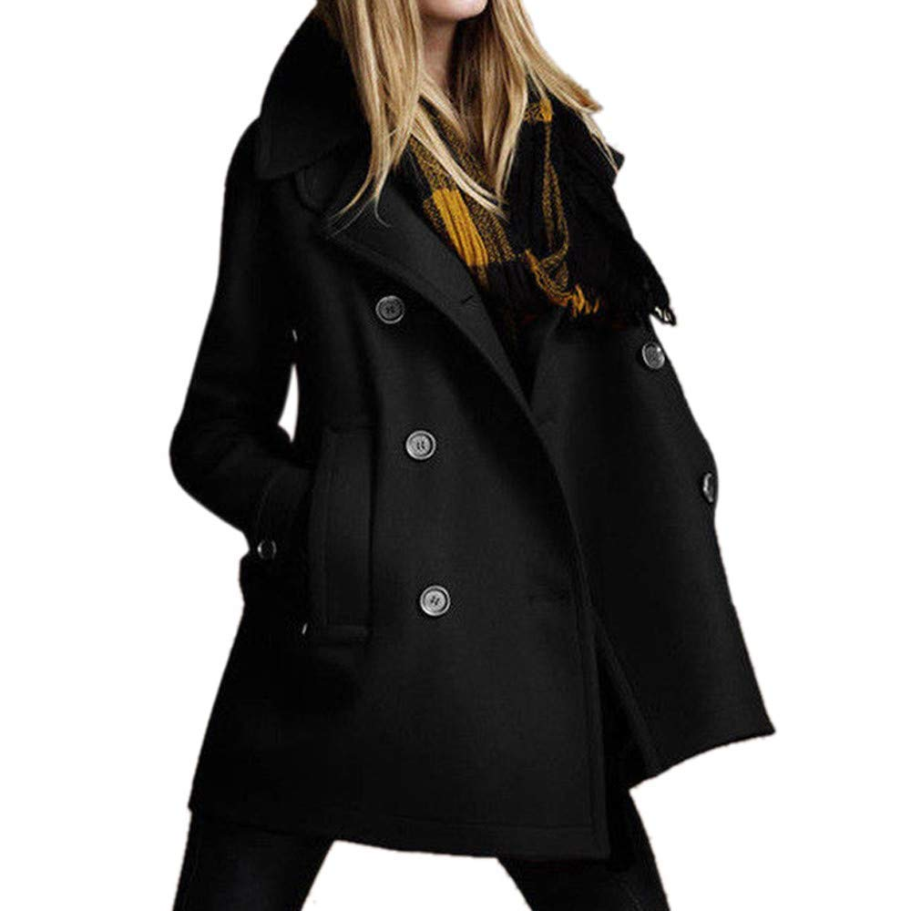 Makeupstore Tops Women, Fashion Women Long Sleeve Solid Top Button Thicker Outwear Coat Jacket Overcoat