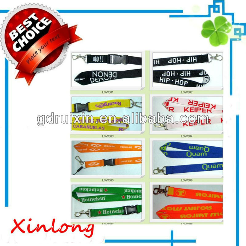 plastic lanyards id badge holder with printing logos