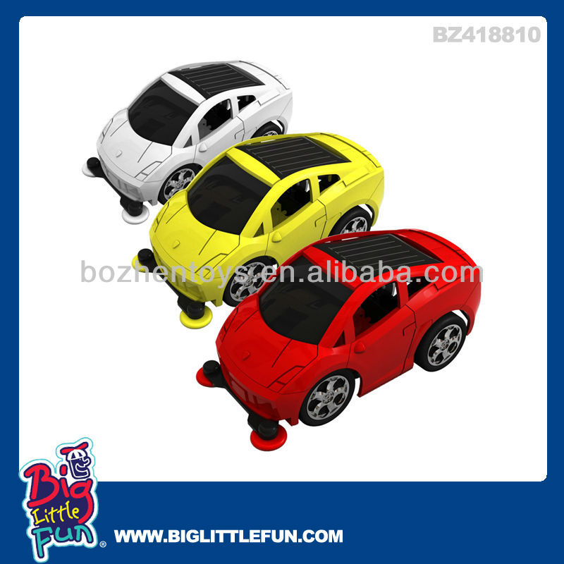solar plastic powered mini car toys