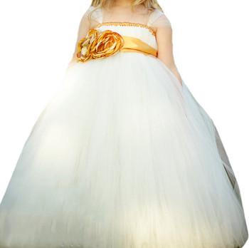 Gorgeous light ivory flower girl tutu dress with gold flower sash gorgeous light ivory flower girl tutu dress with gold flower sash daily casual clothing mightylinksfo