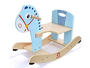 Free Love@Shake the Trojan is easy to assemble child rocking horse The baby horse solid wood rocking horse toy rocking chair