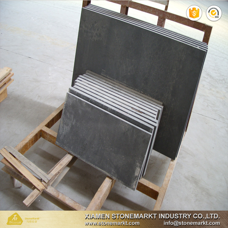 HaiNan Natural Black Honed Basalt Stone Tile for Project Decoration