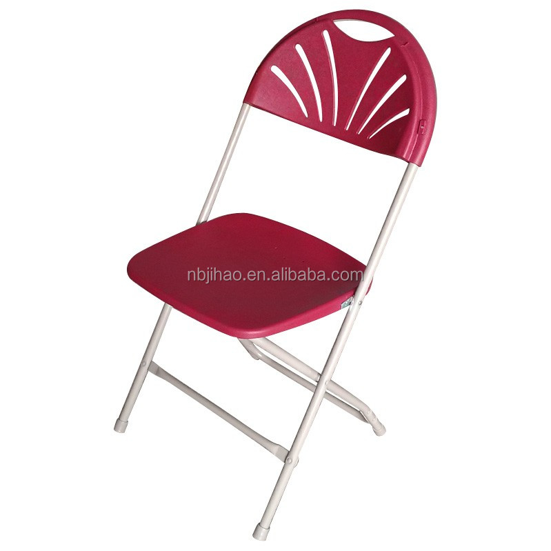 FANBACK poly metal folding chair for outdoor wedding