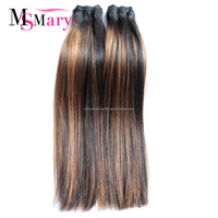 100% Unprocessed Dropshipping Piano Color Human Weave Wholesale Virgin Hair Vendors Raw Indian Hair