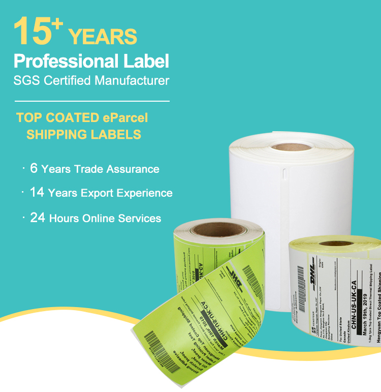 "4"" x 6"" Direct Self Adhesive Thermal Shipping Barcode Labels Sticker Roll for Zebra/Dymo"