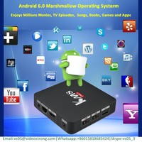 2017 lowest price NEW ARRIVAL KIII Pro S912 Combo TV box 3G 16G Android 6.0 DVB S2 T2 4k satellite receiver android tv box