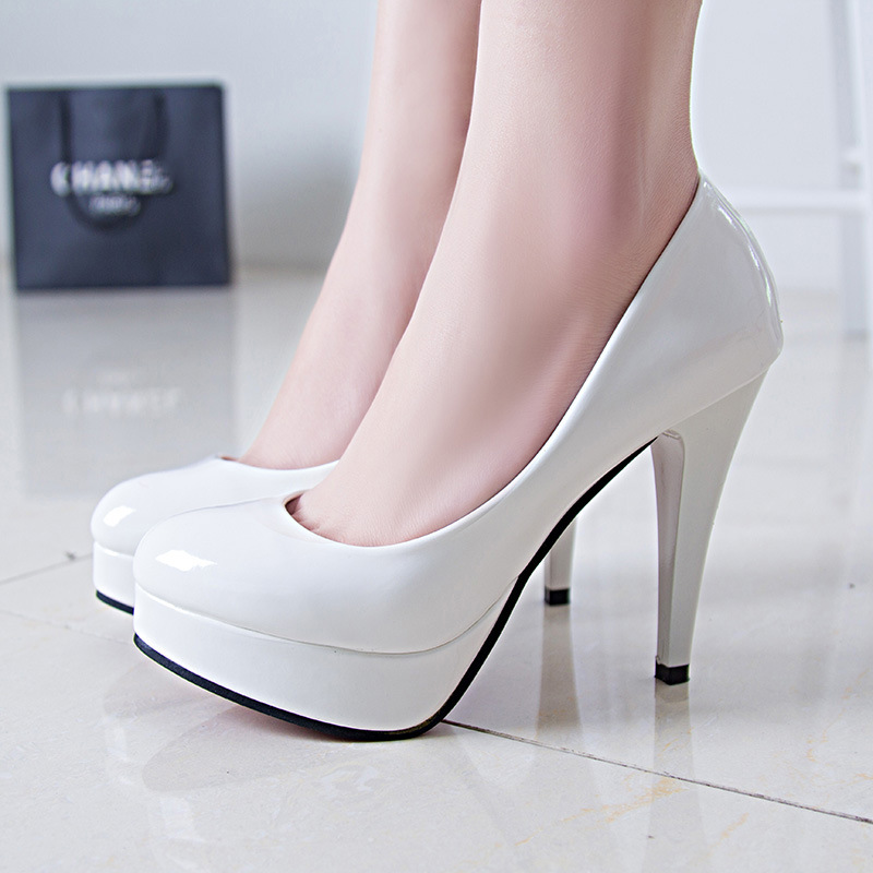 GUGUTREE 34-42# women big size heels ladies sexy work dress heels shoes footwear 2019