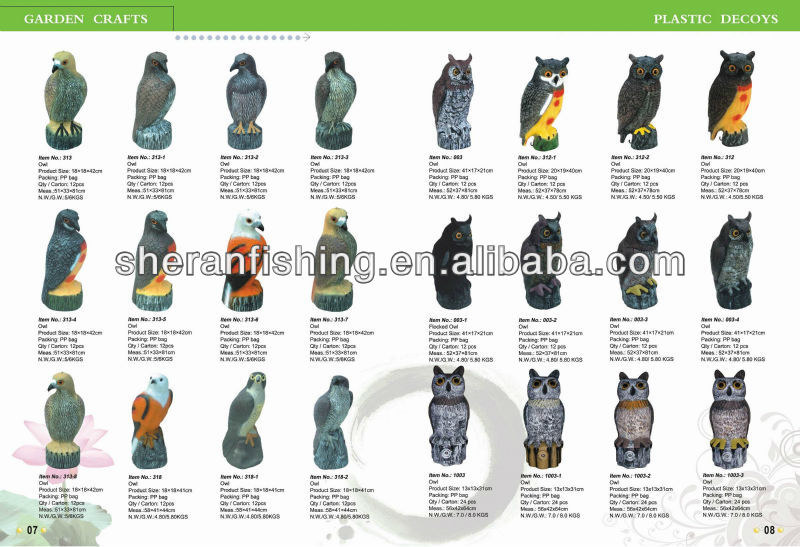 Page 7-8 2016 Lateset factory sale plastic hunting decoy equipment for outdoor