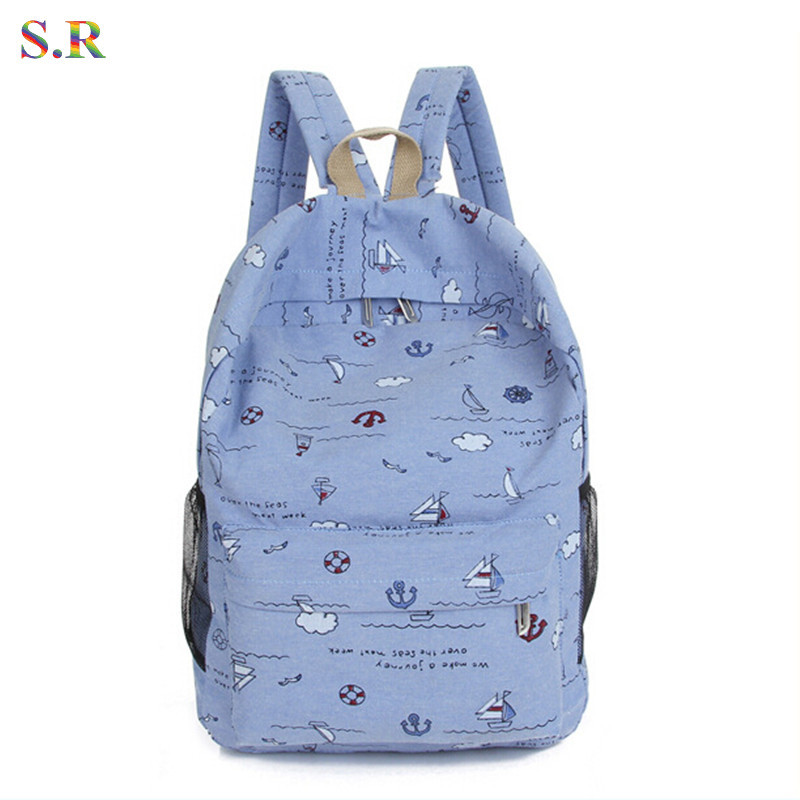 3b798774ec86 Buy Outdoortips Girls Canvas Leisure Shoulder School Bag BackPack - Mint  Green in Cheap Price on Alibaba.com