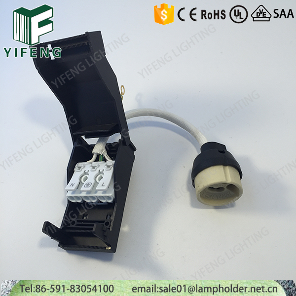 Ceramic GU10 lampholders with junction box