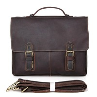 7090R High Quality Drop Shipping Multifunctional Fashion Vintage Leather Bags Men