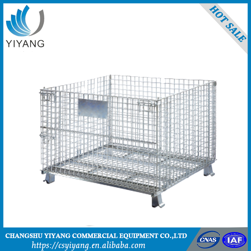 China supply for sale pallet storage cage steel storage cages