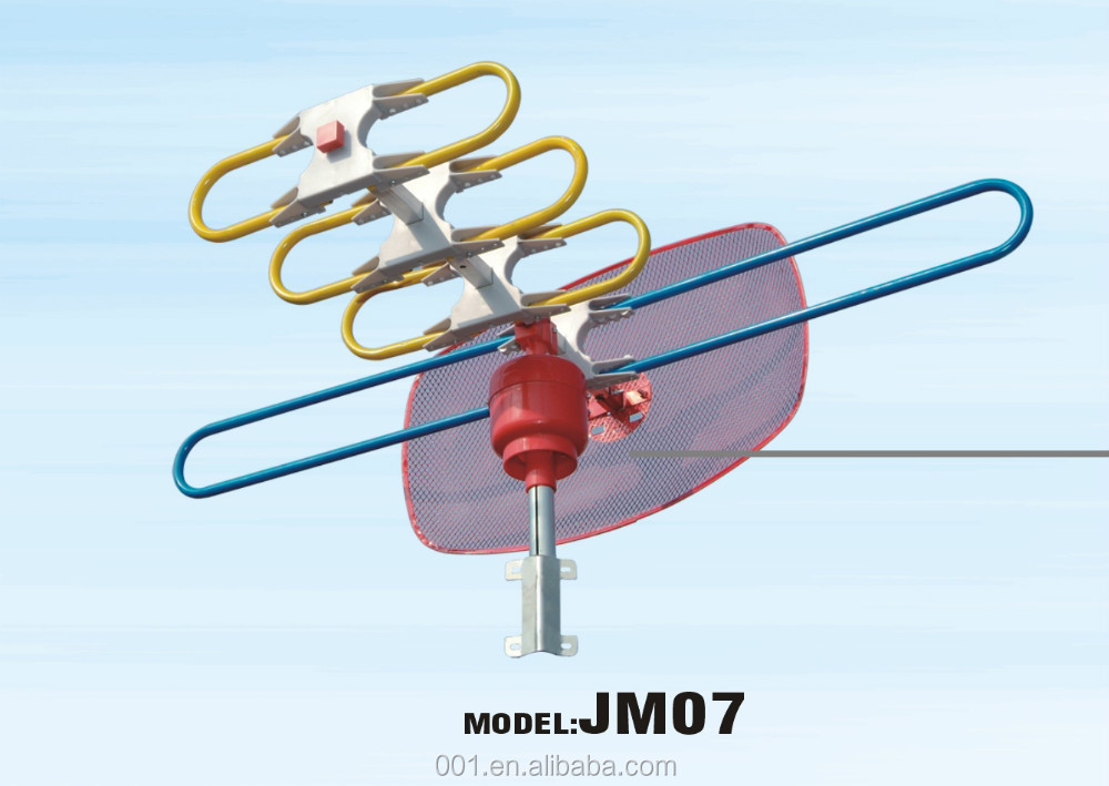 001 BRAND JM07 DIY OUTDOOR HDTV ANTENNA PARABOLIC COLOR TV ANTENA UHF VHF HI GAIN LOW NOISE AMPLIFIED ROTATING ANTENNAS