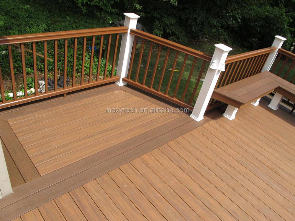 2017 new coming floor covering wpc decking board/No scratches outdoor deck