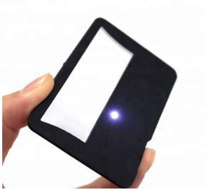 Credit Card Size Magnifiers with LED Lights & 3X Lens PVC Fresnel Credit Card Magnifying Glass