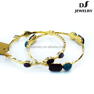 Engraved cuff stainless steel crystal luxury gold acrylic resin bracelet bangle
