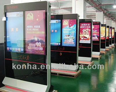 Hotel Advertising Display 42 inch Samsung Floor Standing LED LCD Monitor/player with WIFI input