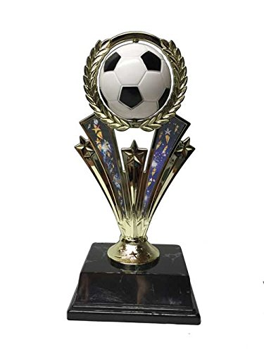 """Soccer Trophy 7.5"""" Spinning Ball with Motion Graphics, Soccer Trophies Spinner Trophy"""