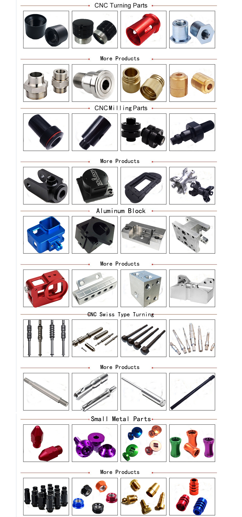 Custom High Precision Sheet Metal Aluminum CNC Machine Parts