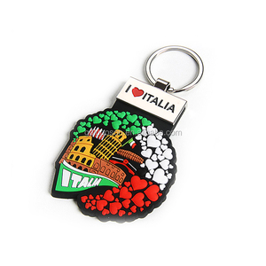 Quality Italy Rubber Key Holder Fridge Magnets Rome PVC Magnetic Key Holder