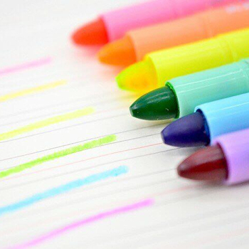 Colorful gel highlighter pen with Brush and Paint