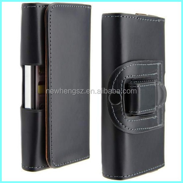 Leather Belt Clip Flip Wallet Case For Iphone 6, Universal Waist Pouch Holster Leather Case for iphone 6
