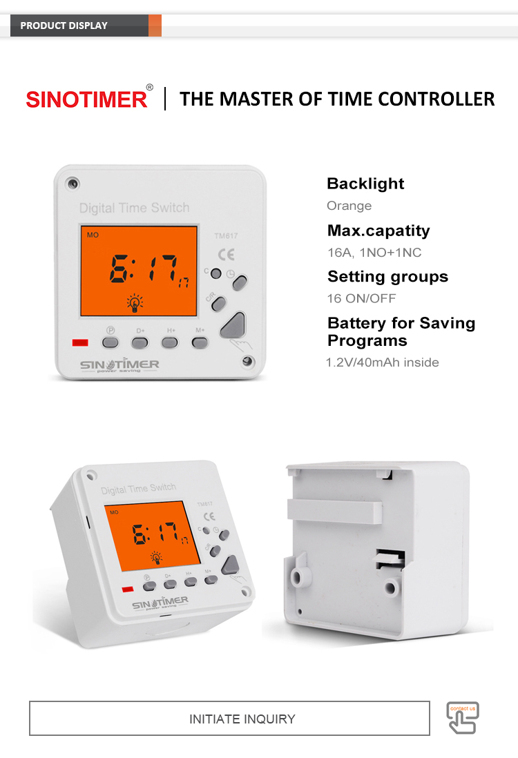 Super Large LCD Display Back-light 110Vac Electronic Digital 7 Day Weekly Programmable Timer Switch Time Relay Clock Controller